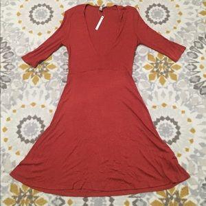 ASOS Tall deep V dress